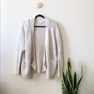 RD Style Chunky Knit Cream Cardigan Sweater